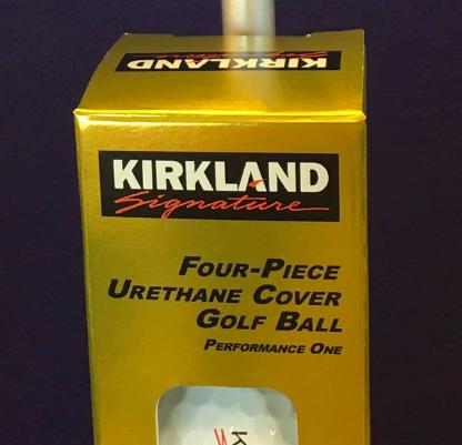 The 4 piece Kirkland golf ball